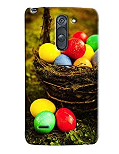 Blue Throat Colored Eggs Hard Plastic Printed Back Cover/Case For LG G3 Stylus