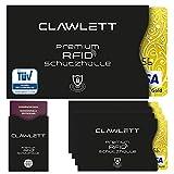 TÜV Geprüfte RFID & NFC Schutzhülle (5+1) für Kreditkarten, EC Karte, Reisepass, Personalausweis, Bankkarte - 100% Kreditkarten-Hüllen RFID Blocker gegen unerlaubtes Auslesen Deiner Daten