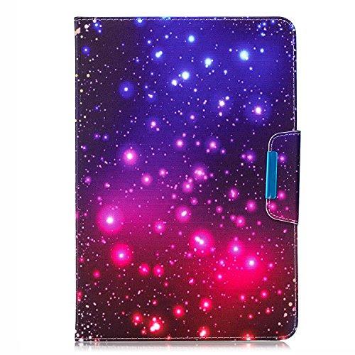 HereMore Universal Hülle Glitzer für 9-10.1 Zoll Tablet - Stand Folio Case Schutzhülle für iPad 9.7 2018/iPad Air, Samsung Galaxy E 9.6/Tab S2 9.7, Asus ZenPad 10, Lenovo Tab10 TB-X103F/Tab 2 A10-70, Huawei MediaPad T5 10/M5 Lite 10 und Alle 9-10.1