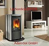 adorosol Vertriebs GmbH la Nordica camino stufa Ester BII con rivestimento in pietra naturale (7,5KW)