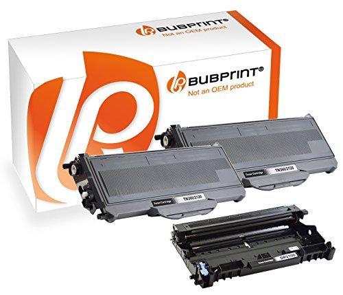 Bubprint 2 Toner & Trommel kompatibel für Brother TN-2120 DR-2100 für DCP-7030 DCP-7040 HL-2140 HL-2150N HL-2170W MFC-7320 MFC-7440N MFC-7840W Schwarz
