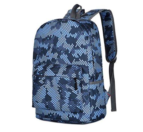 Wmshpeds Il camuffamento borsa a tracolla europei e americani zaino alla moda folle piacere semplice sacchetto selvaggio borsa da viaggio A