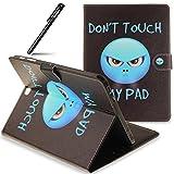 BtDuck Hülle für Galaxy Tab S2 9.7 T815 T810, Ultra Thin PU Leder Tasche Tasche SchutzHülle für Galaxy Tab S2 9.7 T815 T810 mit Magnetverschluss Karte Slots Tasche Handyhülle Soft Silikon Backcover