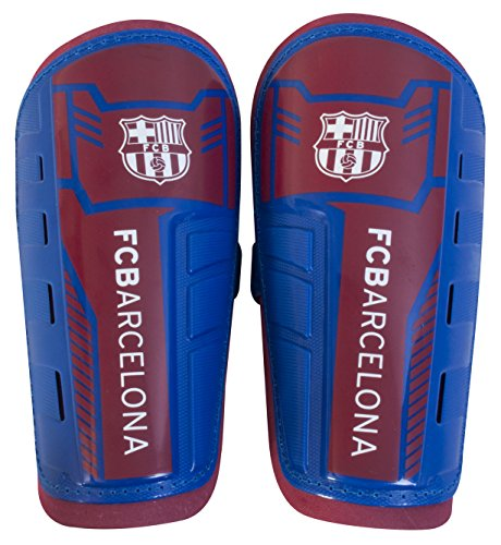Espinilleras para niños del FC Barcelona, color granate