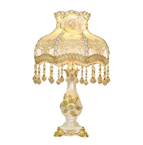 Pengye Kreative Luxus Warme Farben Hochzeit Schlafzimmer Tischlampe Garten Harz Tischlampe (Teal Hochzeit Farben)