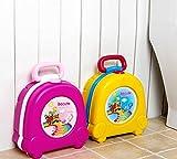 HJXJXJX Kinder-Töpfchen, ein tragbares, dichtes Auto Urinal-Deodorant Outdoor-Reise Multifunktions-Stuhl , Pink