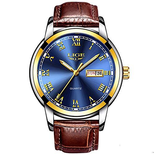 Herren Uhren Fashion Einfache Quarzuhr Fashion Casual Luxus Business Armbanduhr Wasserdicht Herren Sport Uhren < blau Uhren> -