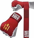 Hawk Boxing, sottoguanti da pugilato, guanti da allenamento per sacco da boxe, con benda avvolgi mano, Red