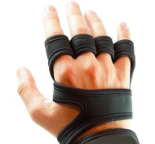 MrMarrah Fitness Handschuhe Universal Farbe Schwarz Größe S, M, L mit Handgelenk Unterstützung (Schwarz, M)