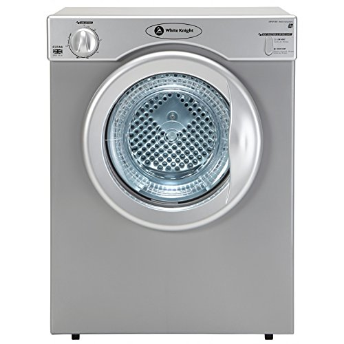 White Knight C37AS Freestanding Front-Loading 3kg C-rated Silver Tumble Dryer