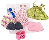Götz 3401754 Kombination Sommerspaß - Puppenbekleidung Gr. XL - 10-teiliges Bekleidungs- und...