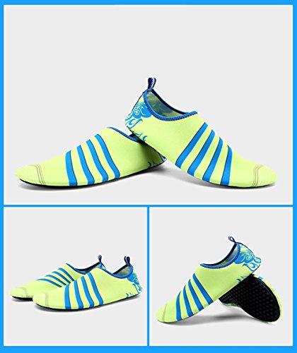 E Support™ Unisex Neoprenschuhe Wassersportschuhe Schwimmschuhe Sportschuhe Schwimmen Surfen Tauchen Aqua Schuhe Wasserschuhe Grün