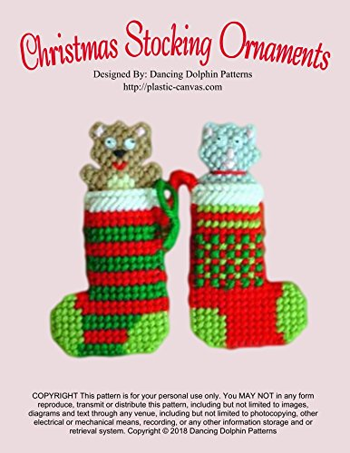 Christmas Stocking Ornaments: Plastic Canvas Pattern (English Edition)