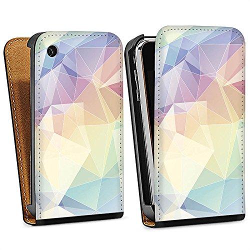 Apple iPhone 4 Housse Étui Silicone Coque Protection Pastel Motif Motif Sac Downflip noir