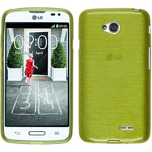 PhoneNatic Funda de silicona para LG L70 - brushed verde pastel - Cover Cubierta + protector de pantalla