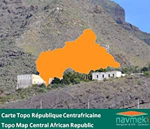 Navmek - Carte Topo République Centrafricaine pour Garmin - MicroSD/SD