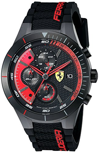 Ferrari Hombre 0830260redrev Evo analógico pantalla Cuarzo Negro Reloj