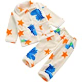 DEBAIJIA Baby Home Wear 0-12T Child Housecoat Kid House Clothes Toddler Pajamas Infant Sleepwear Flannel Unisex…