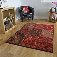 Milan Red, Brown, Orange & Grey Traditional Rug 1572-S52-8 Sizes