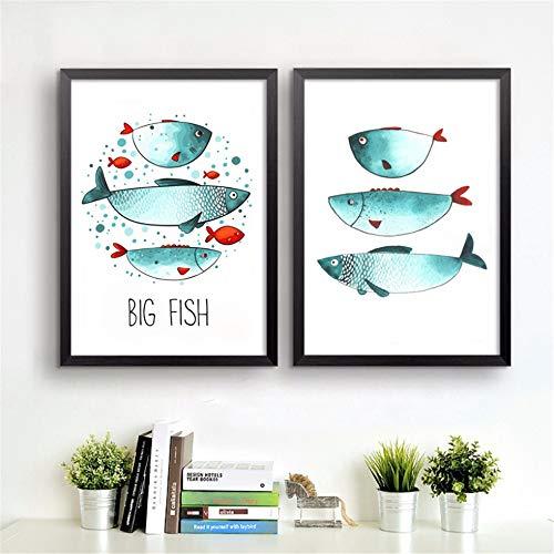 Danjiao Peces De Mar Imprime Lienzo Pintura Post En