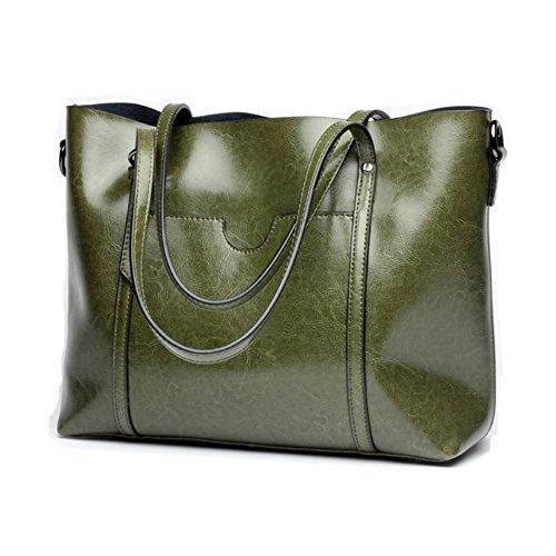 LifenewBaby, Borsa a spalla donna verde Green large Green