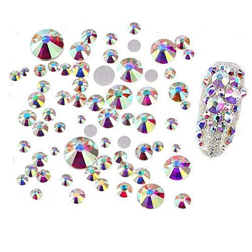 Multicolor Gemischte Glitter Nagel Art strassstein Dekoration