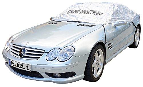 PEARL Autohaube: Auto-Halbgarage für Mittelklasse, 355 x 140 x 59 cm (Abdeckung Auto)