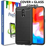 Oneplus 6T Back Cover Case & Tempered Glass Combo By Popio®