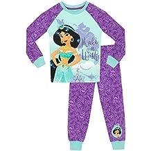 Disney Aladdin - Pijama para niñas - Princesas Jasmine - Ajuste Ceñido