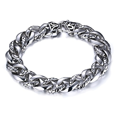 Yc Top Retro Personalize Dragon Scales Chain Titanium Steel Fashion Men Bracelet