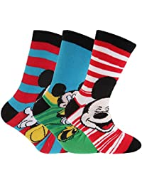 Kinder Jungen Socken mit Disney Mickey Maus Design (3er Packung)