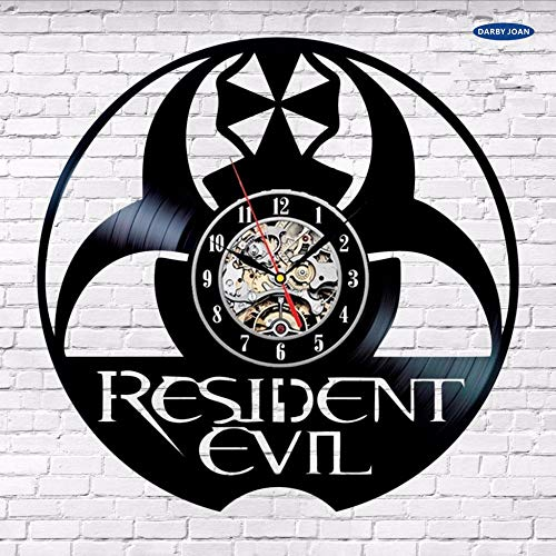 Resident Evil Figure Vinyl Record Clock Inicio Cumpleaños Party Sign Art Nursery