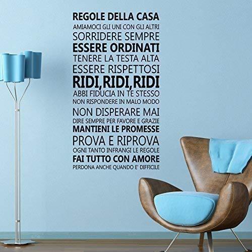 Italienische Schlafzimmer Dekor (Entfernbarer Selbstklebend Wand Sticker Zitate