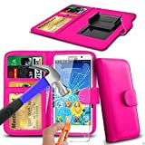 N4U Online® - Pink Clip On PU Leather Wallet Case Cover &