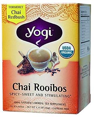 Yogi Tea, Chai Rooibos, sans caféine, 16 sachets de thé, 1,27 oz (36 g)
