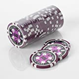 15 g Poker Chips - Design - Écureuil Poker Poker Club 15 g Poker Chips couleur = Violet, valeur = 500 $