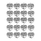 Kesheng 20 colgantes con tres eslabones de corazón para decoración de bisutería