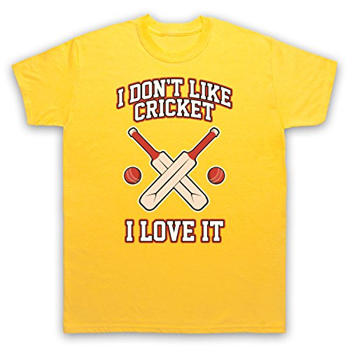I Don't Like Cricket I Love It Herren T-Shirt Gelb