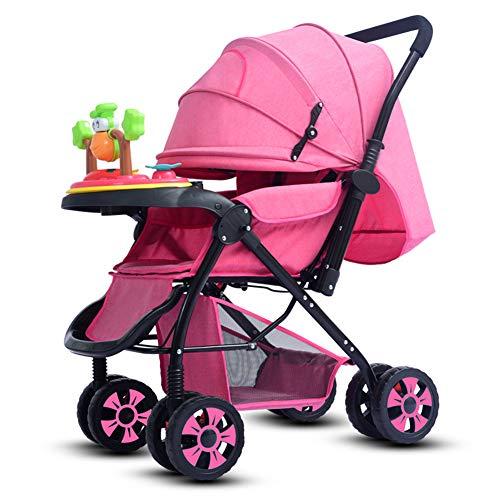 Ydq Kinderwagen,2 In 1 Kombikinderwagen Set Reisesystem Als Buggy Und Babywanne Kombi-Kinderwagen Set Ab Geburt - LeichtgäNgig
