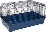 Cage pour Lapin Sprinters L: 100cm B: 68cm H: 54cm Bleu