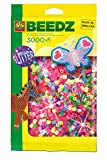 SES creative 00774 - Bügelperlen Mix 3000 Stück Glitter
