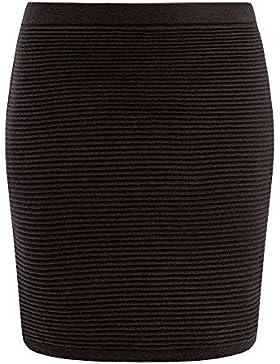 oodji Ultra Mujer Falda de Punto Texturizado