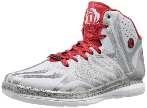 Adidas D Rose 4.5,-Schuhe Basketball Herren Multicolore (Gris/Rouge)