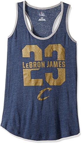 VF VSG bringen Best Player Programm NBA Damen Ärmellos Scoop Neck Racer Back Tank, Large, Navy heather-steel Heather - Scoop Back Tank
