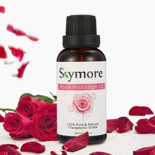 Skymore Rose Massageöl, Geeignet für Aromatherapie Entspannende Massage,Pflanzliches Körperöl,...