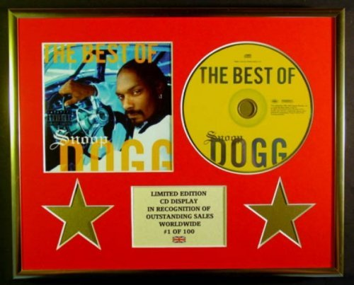 SNOOP DOGG/CADRE CD/EDITION LIMITEE/CERTIFICAT D'AUTHENTICITE/THE BEST OF SNOOP DOGG