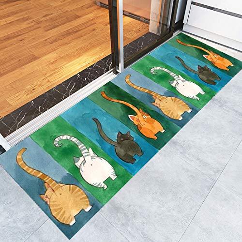 Levoberg Teppich Küche, Teppichläufer Küchenläufer, moderner Teppich Läufer für Flur, Küche, Schlafzimmer, Niederflor Flurläufer, Maschinenwaschbar (160 x 50cm, 7)