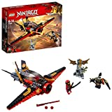 LEGO 70650 NINJAGO Destiny's Wing Toy Jet Plane, Kai and Jet Jack Mini Figures, Airplane Building Sets for Kids