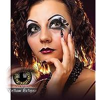 Kontaktlinsen Festive ohne Stärke Phantasee Modell Fancy Lens 14mm Yellow Eclipse