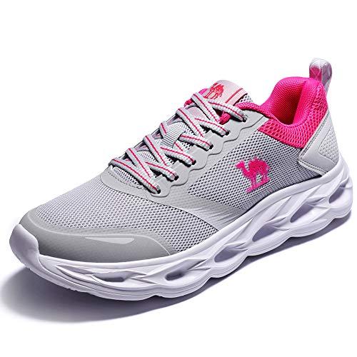 Scarpe da Corsa Donna Sportive Leggero Fitness Running Sneakers Traspirante Sneaker da Donna Casuale Grigio - Ultima Versione 4UK=37.5EU